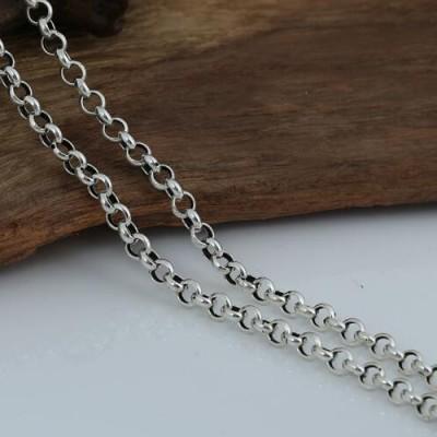 "6 mm Men's Sterling Silver Rolo Chain 20""-28"""