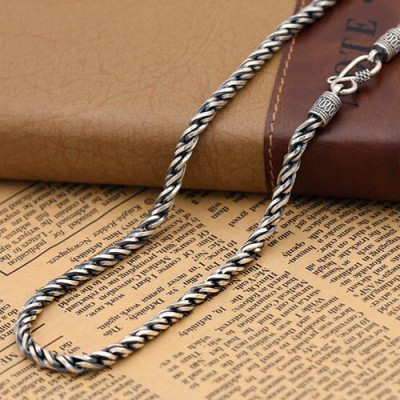 "4.5 mm Men's Sterling Silver Rope Chain 18""-24"""