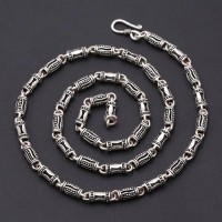 "5 mm Men's Sterling Silver Tube Chain 18""-24"""