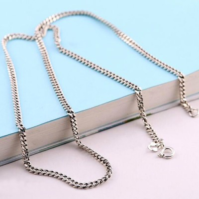 "3 mm Men's Sterling Silver Curb Chain 18""-20"""