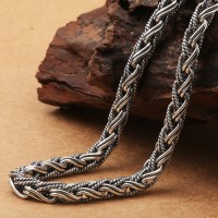 "7 mm Men's Sterling Silver Rope Chain 20""-26"""