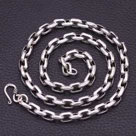 """8 mm Men's Sterling Silver Anchor Link Chain 20""""-26"""""""