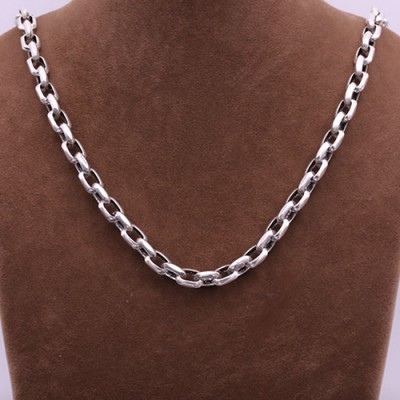 "8 mm Men's Sterling Silver Anchor Link Chain 20""-26"""