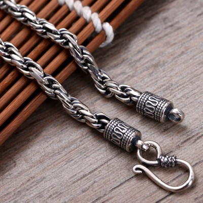 """5 mm Men's Sterling Silver Rope Chain 20""""-22"""""""