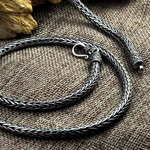 "Men's Sterling Silver Round Wheat Chain 20""-24"""