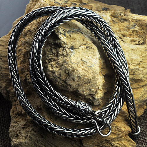 "4-5 mm Men's Sterling Silver Wheat Chain 18""-24"""