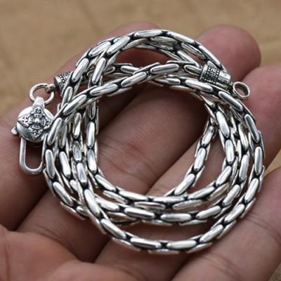 "3 mm Men's Sterling Silver Coreanna Chain 20""-30"""