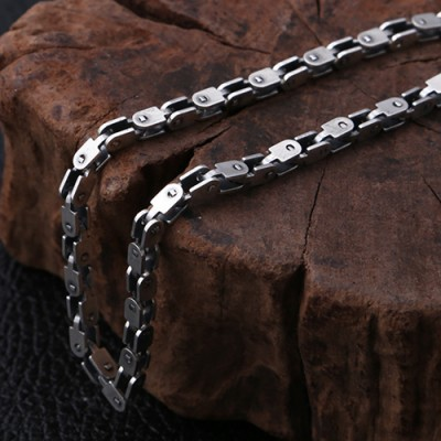 "Men's Sterling Silver Box Link Chain 20""-26"""