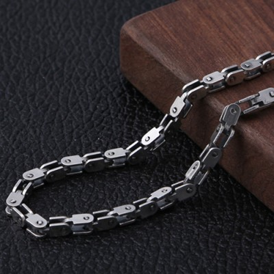 """Men's Sterling Silver Box Link Chain 20""""-26"""""""