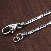 "3mm Men's Sterling Silver Curb Chain 20""-22"""