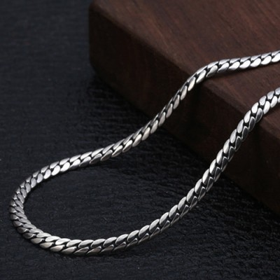 """3mm Men's Sterling Silver Curb Chain 20""""-22"""""""