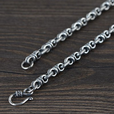 "Men's Sterling Silver Link Chain 24""-26"""