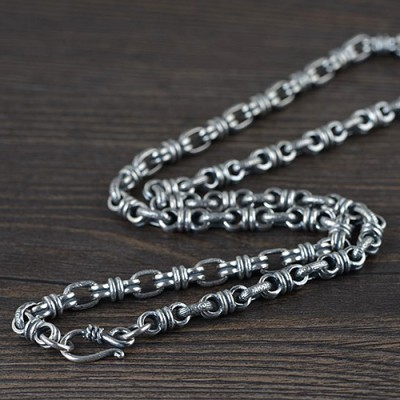 """Men's Sterling Silver Link Chain 24""""-26"""""""