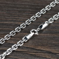 "4 mm Men's Sterling Silver Anchor Link Chain 26""-28"""
