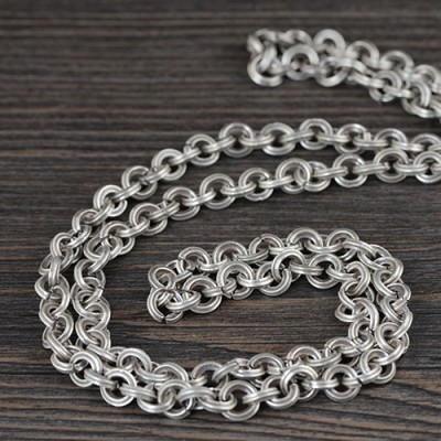 8 mm Men's Sterling Silver Chunky Cable Chain 29""