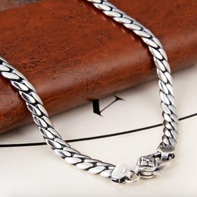 "5mm Men's Sterling Silver Curb Chain 18""-28"""