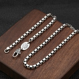 "3.5mm Men's Sterling Silver Box Chain 20""-30"""