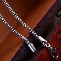 "2.5 mm Sterling Silver Popcorn Chain 20""-30"""