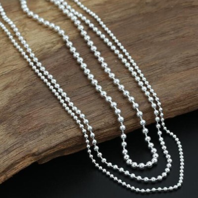 "2-3 mm Sterling Silver Bead Chain 18""-30"""