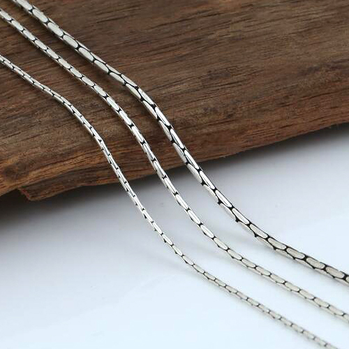 "1-2 mm Sterling Silver Round Coreanna Chain 18""-24"""