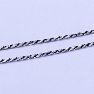 "1.3 mm Sterling Silver Rope Chain 18""-30"""