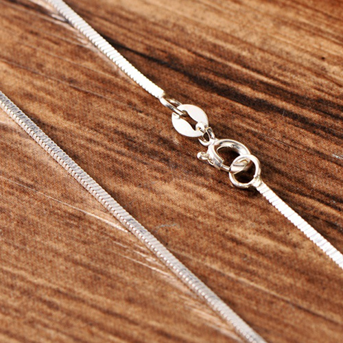 """Sterling Silver Square Snake Chain 18""""-20"""""""