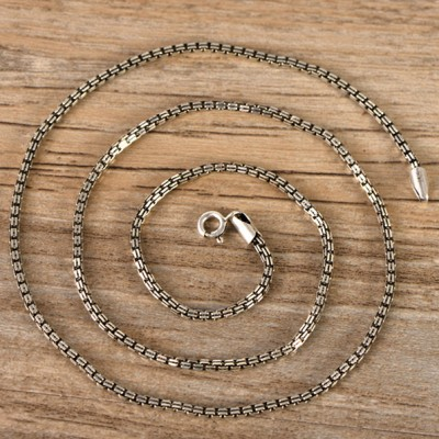 2 mm Sterling Silver Square Box Chain 22""