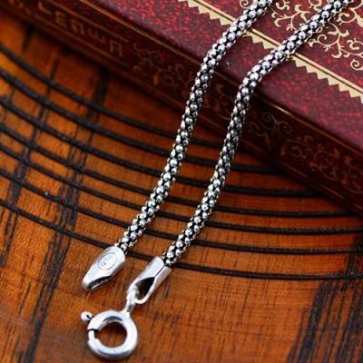 """1 mm Women's Sterling Silver Popcorn Chain 16""""-20"""""""