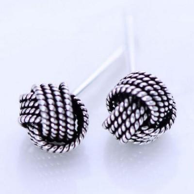 Women's Sterling Silver Knot Earrings