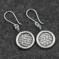 Women's Sterling Silver Braided Drop Earrings