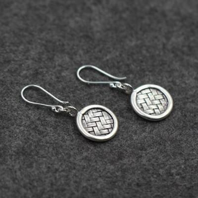 Women's Sterling Silver Braided Drop Earrings
