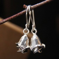 Women's Sterling Silver Rose Drop Earrings