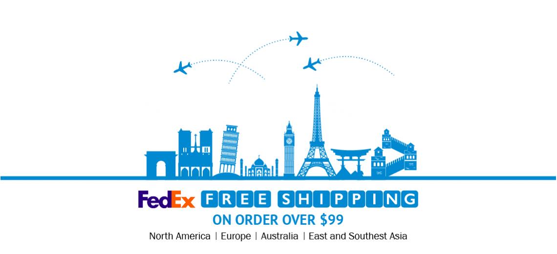 Free Shipping by FedEx