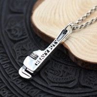 "Men's Sterling Silver Pipe Wrench Necklace With Sterling Silver Rolo Chain 18""-30"""