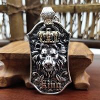 Men's Sterling Silver Lion King Necklace