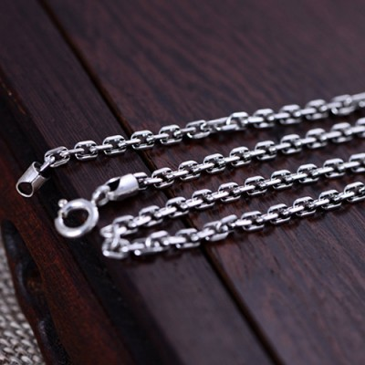 "Sterling Silver Headphone Necklace with Sterling Silver Anchor Link Chain 18""-30"""