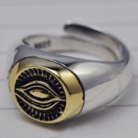 Men's Sterling Silver God's Eye Ring