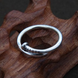 Men's Sterling Silver Nail Wrap Ring
