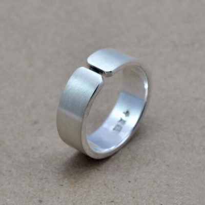 Fine Silver Wrap Band Ring