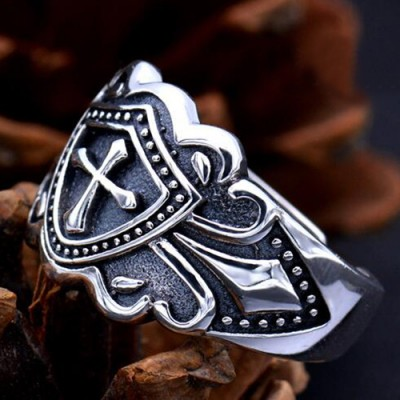 Men's Sterling Silver Cross Wrap Ring