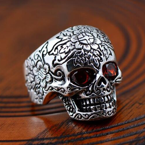 Men S Sterling Silver Skull Ring Jewelry1000 Com