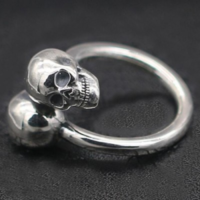 Men's Sterling Silver Skulls Wrap Ring