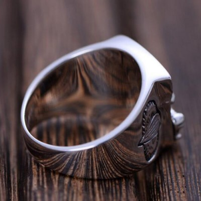 Men's Sterling Silver Airborne Ring