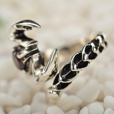 Men's Sterling Silver Scorpion Wrap Ring
