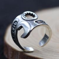 Men's Sterling Silver Spanner Wrap Ring
