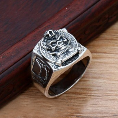 Men's Sterling Silver US Army Sniper Ring