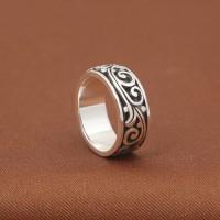 Men's Sterling Silver Ivy Spinner Ring