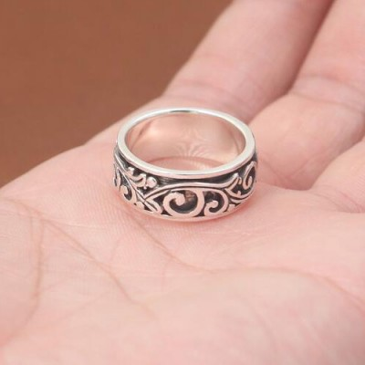 Men's Sterling Silver Ivy Spinner Ring