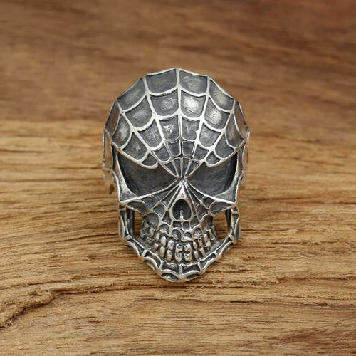 Men's Sterling Silver Spiderman Ring