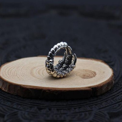 Men's Sterling Silver Eagle Talon Wrap Ring